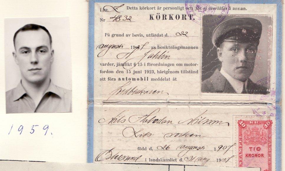 Äldre och nyare körkort