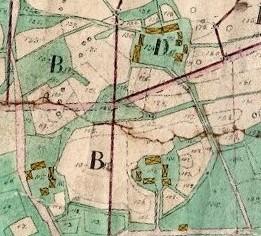 Bringåsen år 1835 med två hemman No 1 och två st No 3