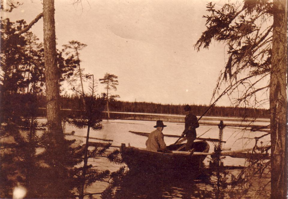 Flottning i Mellansjöån 1910