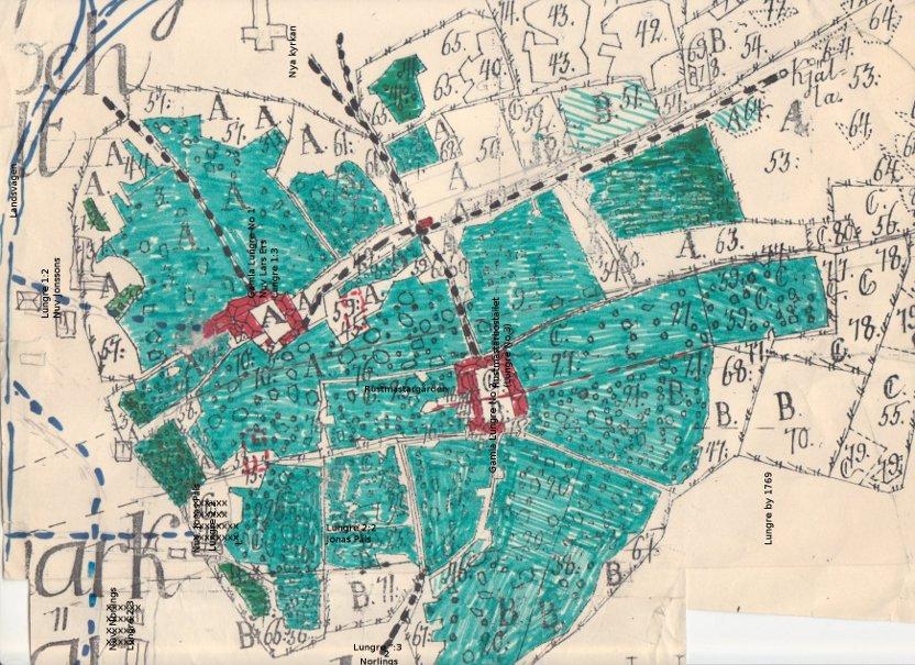 Lantmäterikarta 1769, Lungre by