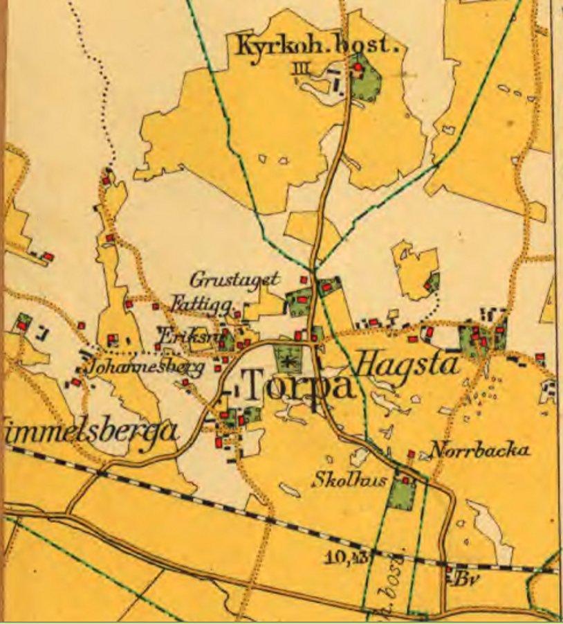 Vägförrättning i Torpa 1918