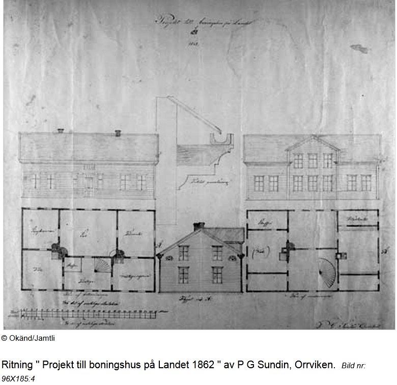 Ritning från Orrviken, Jämtland 1862
