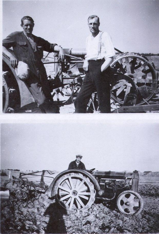 Bröderna Otto och Nisse Nilsson på uppdrag åt flygvapnet 1937