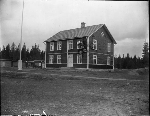 Kyrkås sockenstuga vid invigningen år 1907