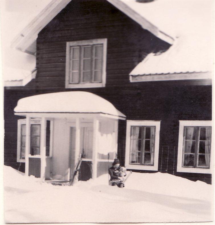Mamma och jag, julhelgen 1941