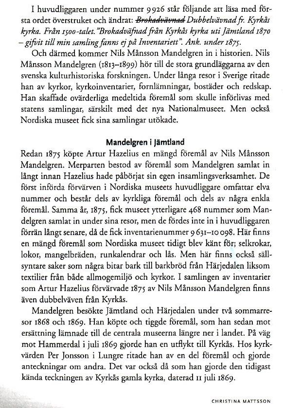 Mattssons berättelse