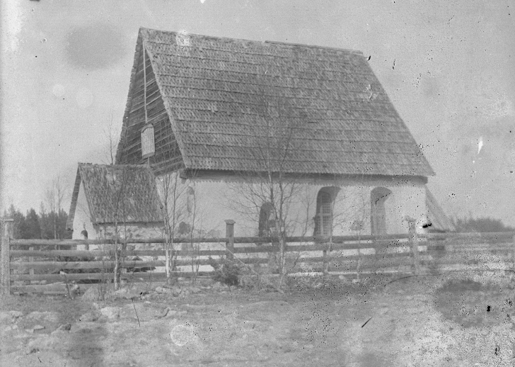 Kyrkås gamla kyrka 1908