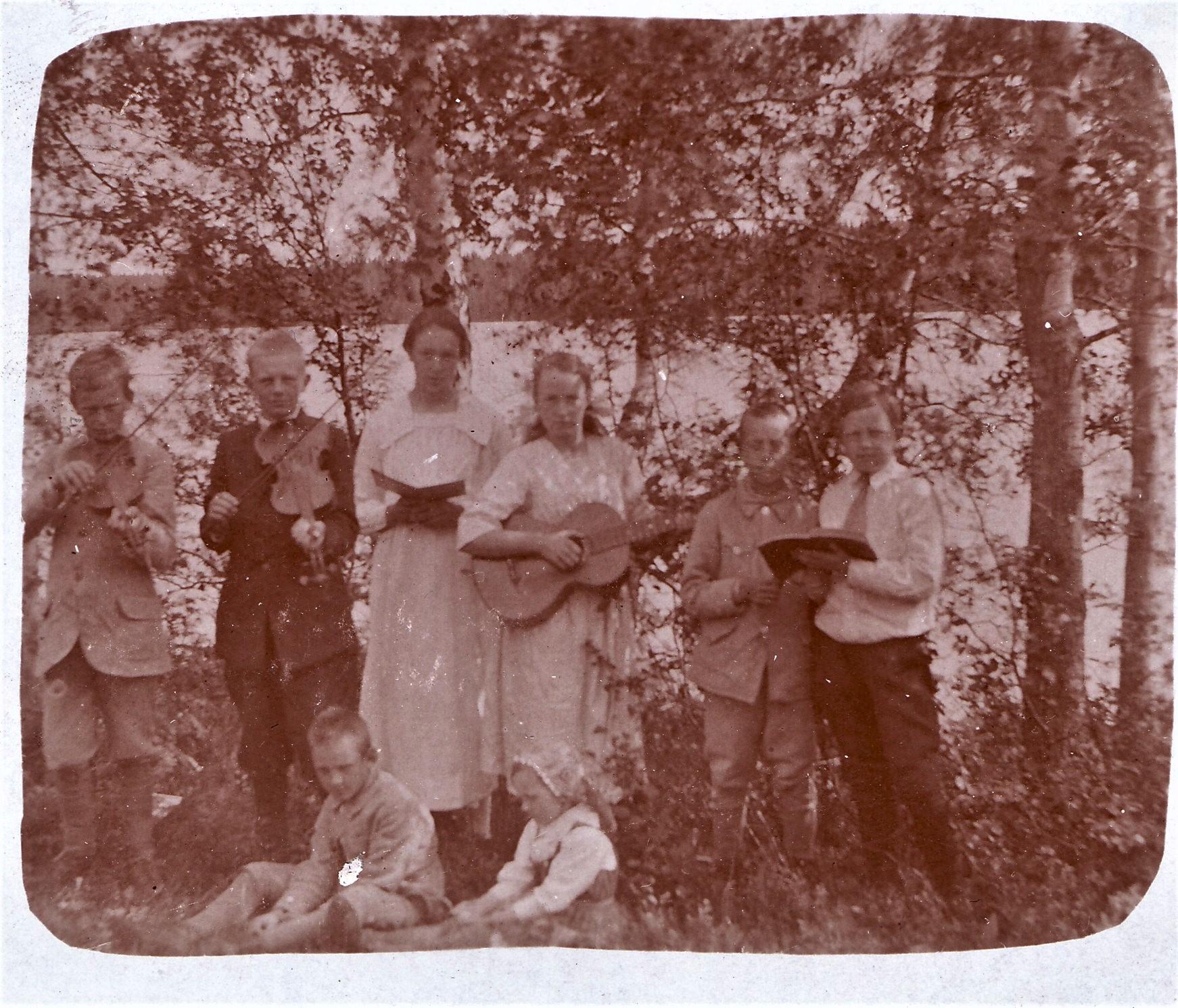 Karin o Erik till Singsjön 1920