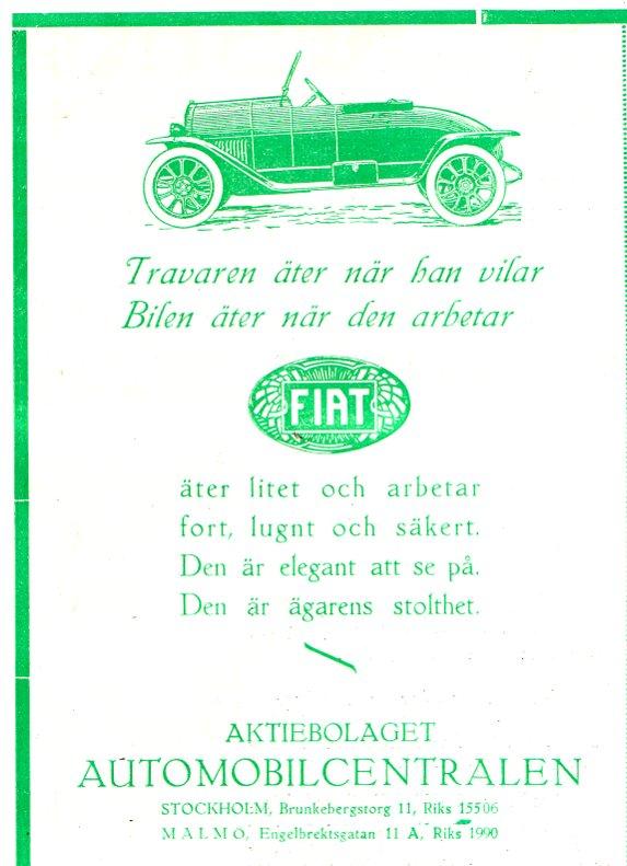 Bilannons i tidskr. Hästen 1925