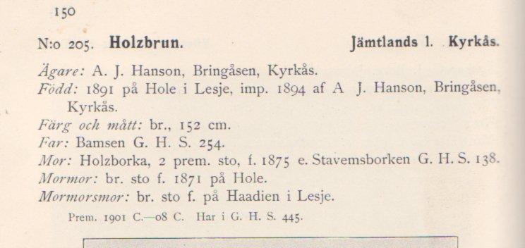 stambok 1909