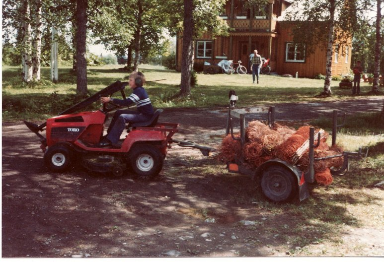stängselekipaget 1980 med piloten Johan