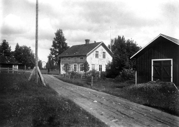 F d P O Lindbergs affär mm i Lungre, foto efter 1920