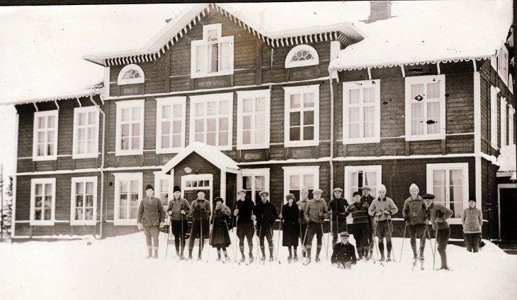 Nisses skidåkning på Torsta 1926