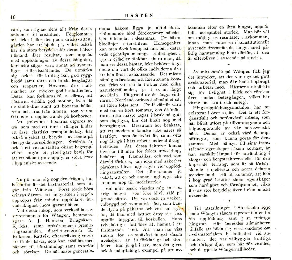 P Scmidt Wången 1932