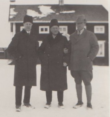 W Behm, AJH och Liss L Carlsson 13 mars 1930